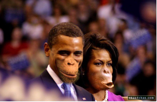 Image result for obama as ape
