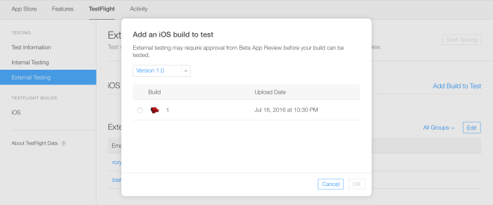 Using TestFlight To Beta Test Your iOS App - App Development