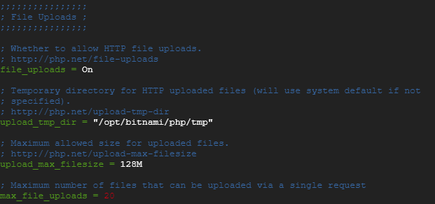 change the file upload max size in php.ini