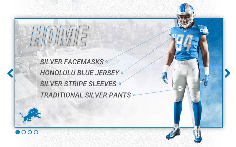 detroit lions 2017 new uniform home
