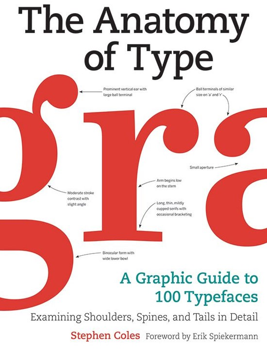 The Anatomy of Type: A Graphic Guide to 100 Typefaces Book