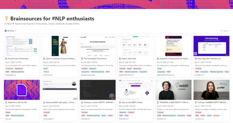 Brainsources for #NLP enthusiasts