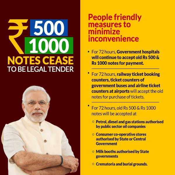 Where Rs 500 and Rs 1000 will be valid for 72 Hrs
