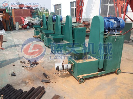 Biomass extruder machine