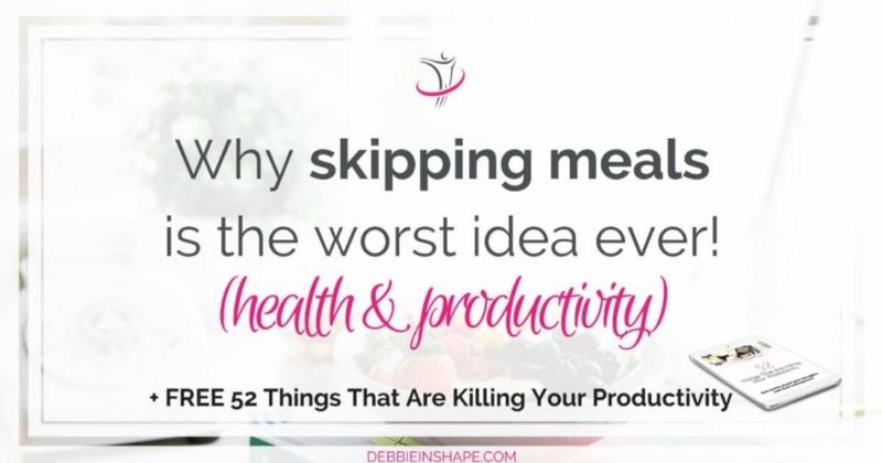Skipping meals is the worst idea ever for your productivity and health. Find out why you must quit it right now. Read more on the blog!