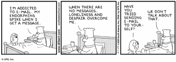 comic strip about emails