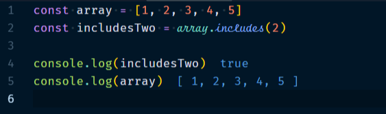 Array.includes Method