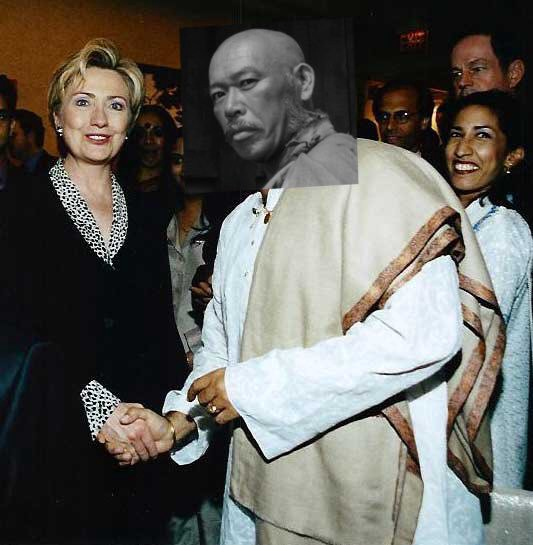 fake photo of me shaking hands with HRC