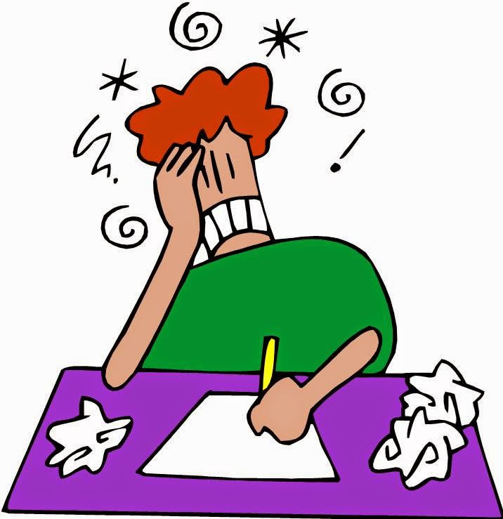 Image result for frustrated writer clipart
