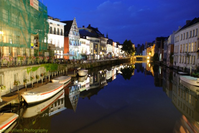 Ghent Canals at Night