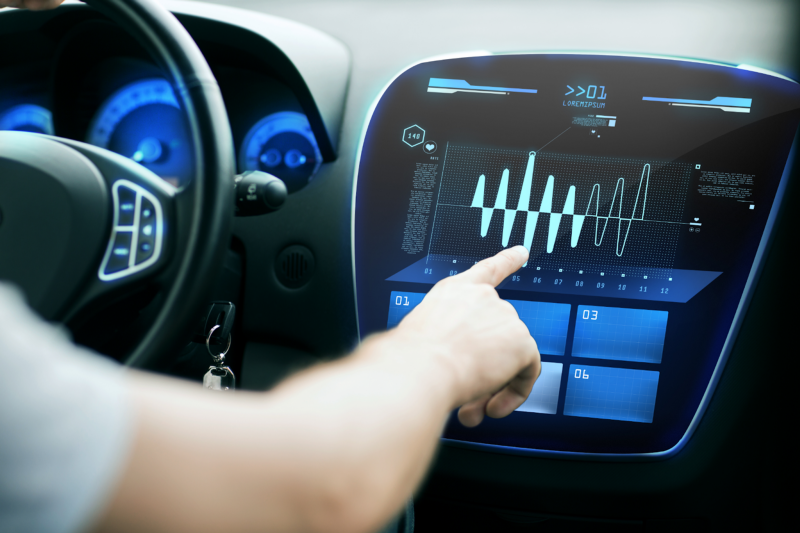 Haptics integrated into the digital interface of automobiles