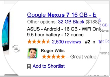 Personal google ads picture