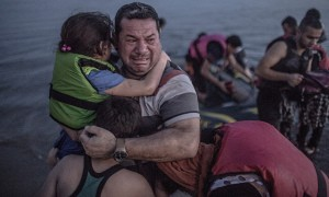 Source: The Guardian: Seeing a Syrian family arrive on the Greek island of Kos was an extraordinary moment, even for a professional photographer. The shots show a father's anguish