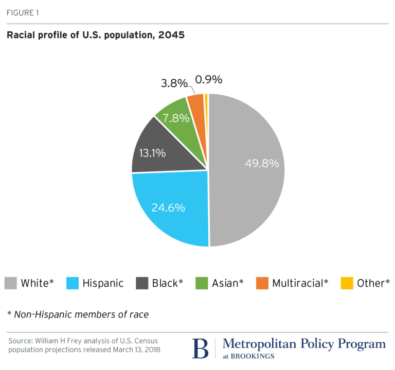 Projected racial profile of U.S. population, 2045