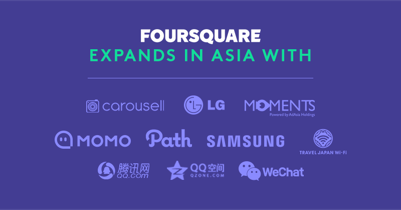 Foursquare expansion in Asia partners