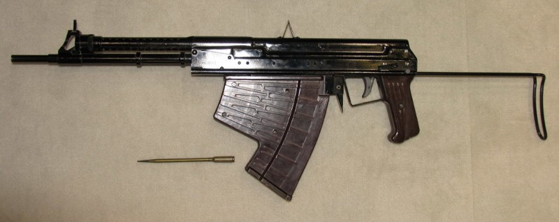 APS underwater assault rifle with single dart cartridge. Photo by Remigiusz Wilk, courtesy of Wikimedia commons. https://commons.wikimedia.org/wiki/APS_Underwater_Assault_Rifle#/media/File:APS_underwater_rifle_REMOV.jpg