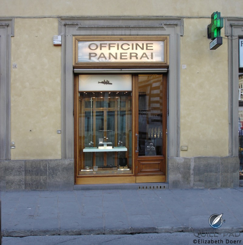 The Officine Panerai boutique in Florence, Italy