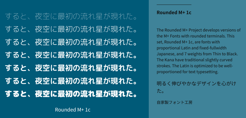 Rounded M + 1c