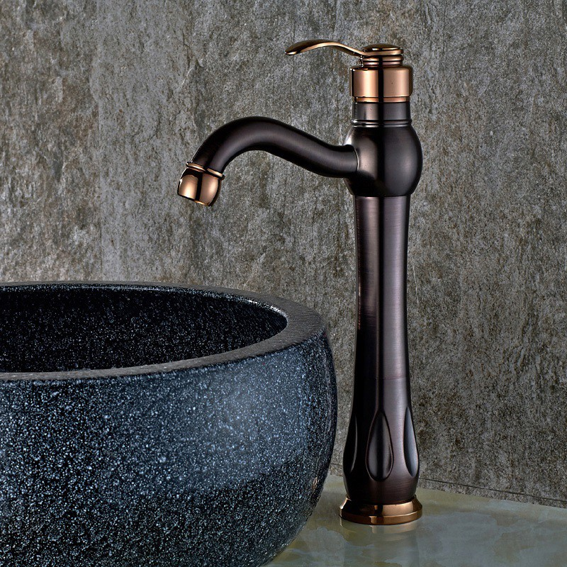 Best Inias Classic Single Handle One Hole Oil Rubbed Bronze & Rose ...