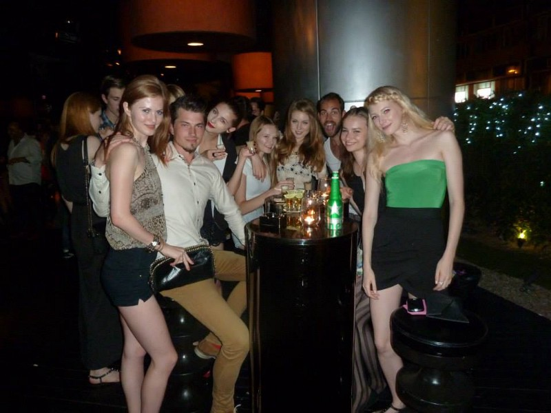 Picture of models and Kristjan Mark at Dragon-i Hong Kong
