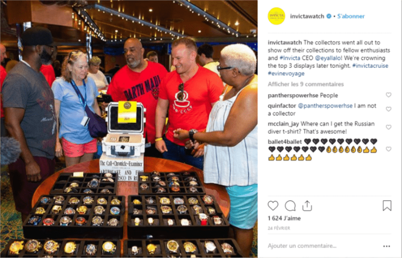 Photo of Invicta collectors getting praised by Invicta CEO
