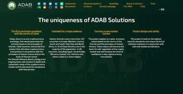 ADAB - First Islamic Crypto Exchange