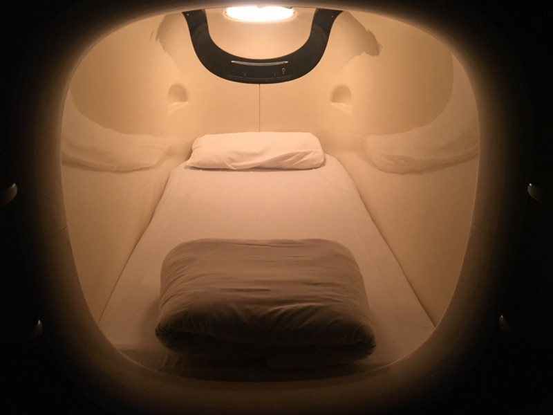 My Personal Pod at the Capsule Hotel