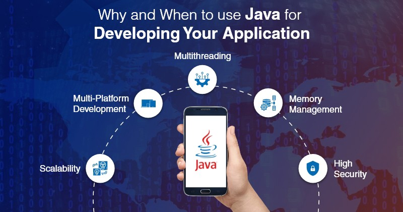 java for developing application