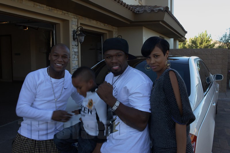 50 Cent With Rick Rossu0027 Children And Babies Mother (Tia) At Floyd  Mayweatheru0027s House