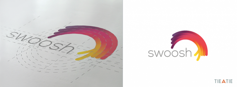 Swoosh logo construction