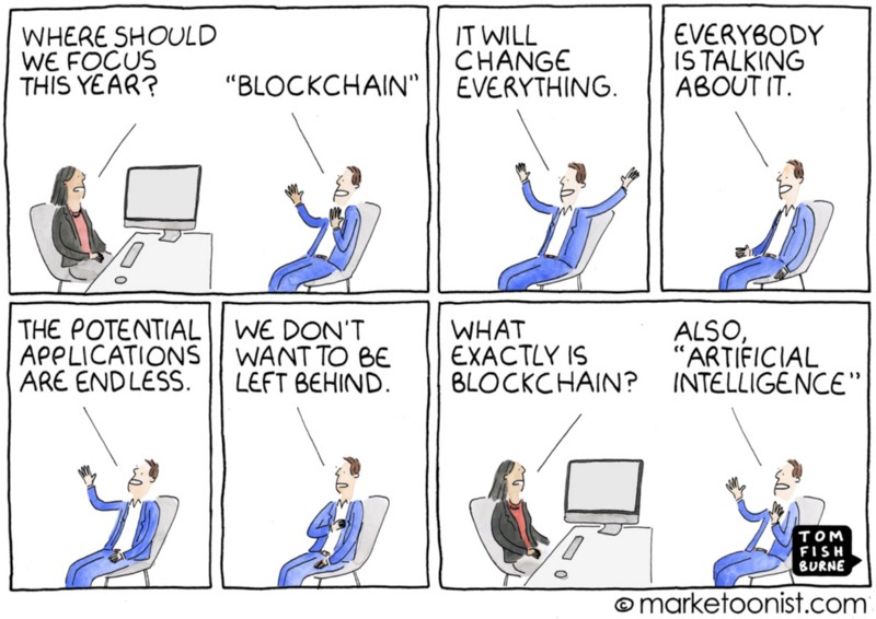 Blockchain as a buzzword for the Internet