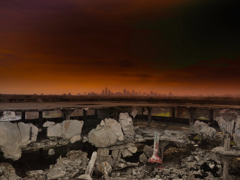 CITY OF DETROIT FROM THE LARGEST ABANDONED FACTORY IN THE WORLD