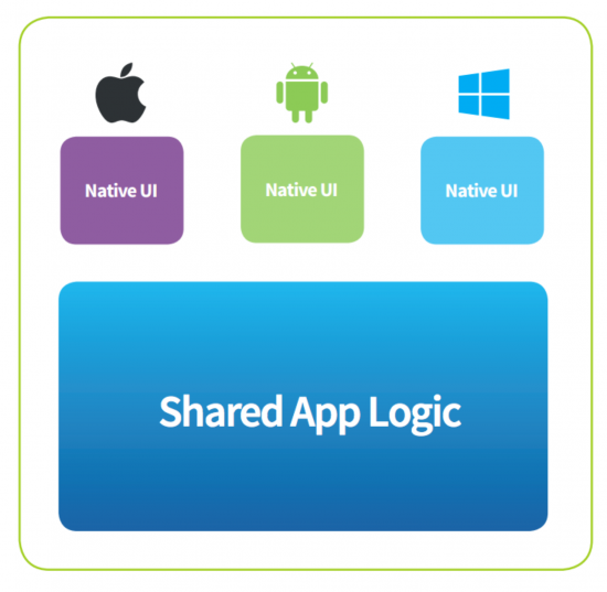 xamarin app Shared code example