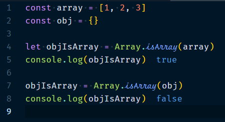 Array.isArray Method