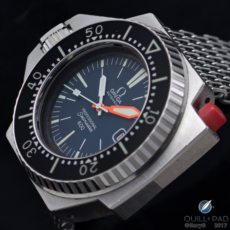 Mix of original and correct replacement components: Omega Seamaster Ploprof