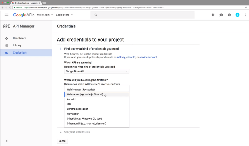 Google sheets as database credentials