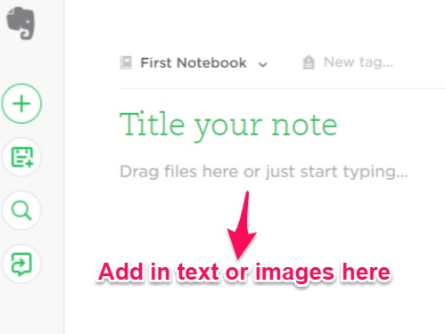 First Note of EverNote