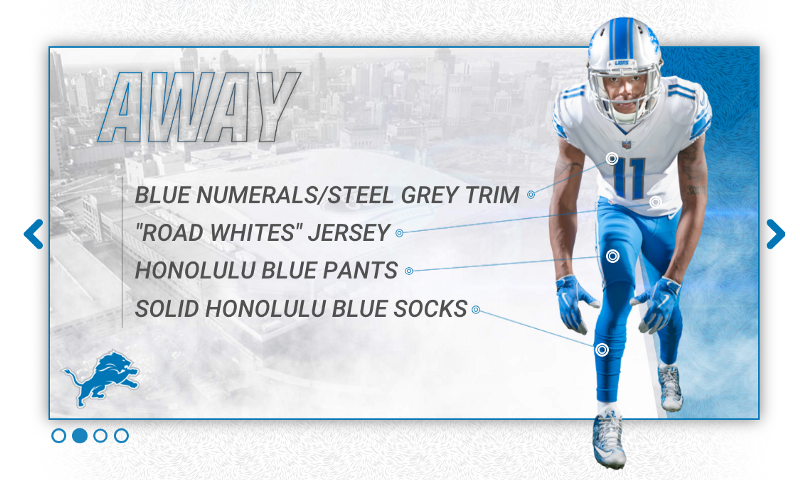 detroit lions 2017 new uniform away