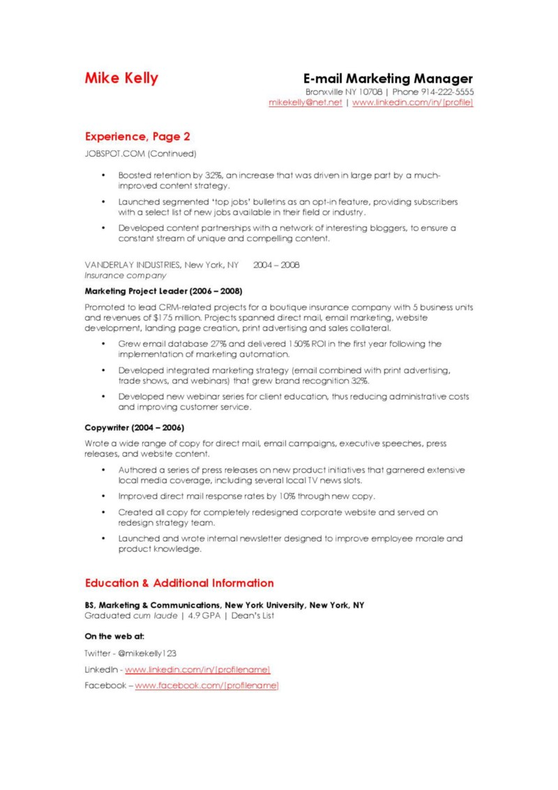 Product Manager Resume Linkedin Vosvetenet – Product Manager Sample Resume