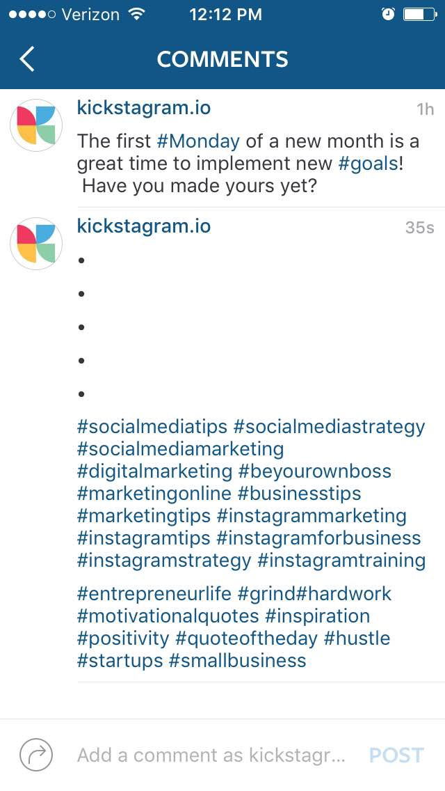 how to optimize your Instagram account - comments