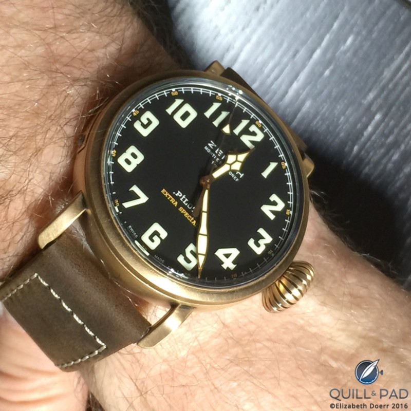 The Zenith Heritage Pilot Type 20 Extra Special, a 45 mm bronze-encased heritage-inspired wristwatch