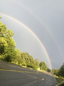 Image of a double rainbow