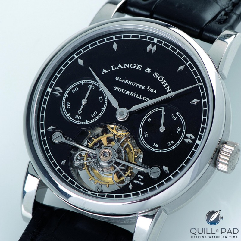 A. Lange & Söhne Tourbillon Pour le Mérite with black dial