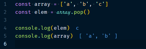 Array.pop Method