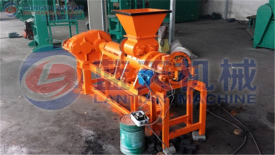 Hollow coal rod machine