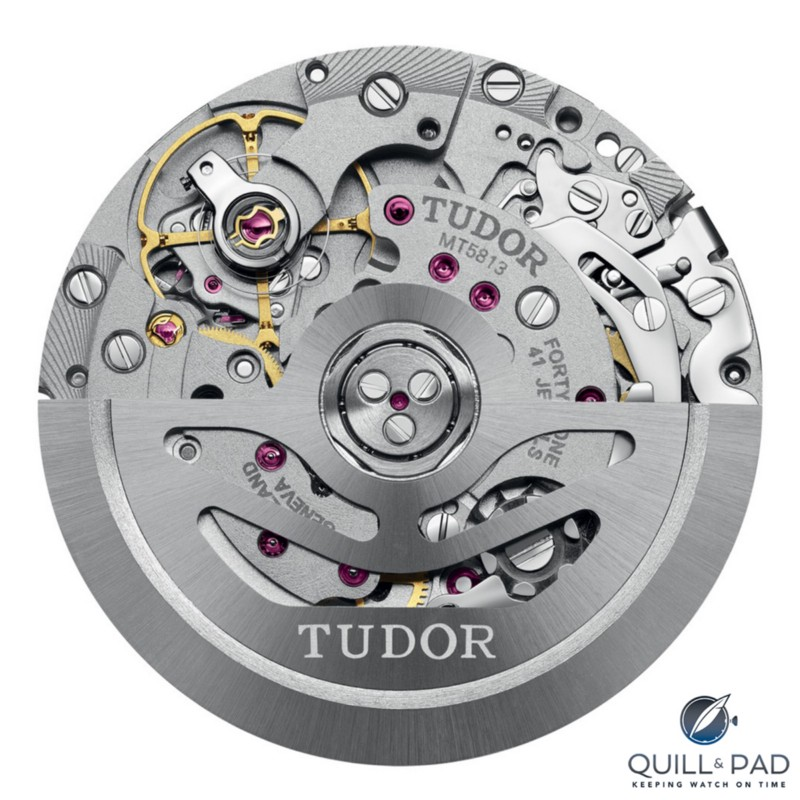 The Tudor Caliber MT5813 chronograph movement is based on the Breitling B01
