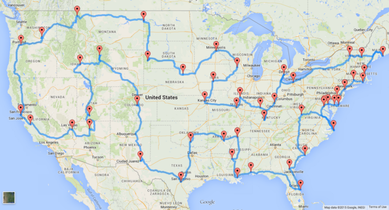This Is the Perfect US Road Trip According to Scientists – Road Map of Usa
