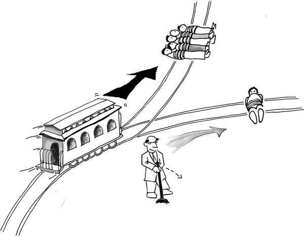 Line Drawing Method Ethics : Self driving cars and the trolley problem tanay jaipuria