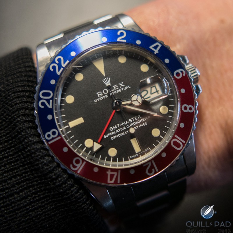 Rolex GMT Master presented to Derek Gardner by Sir Jackie Stewart