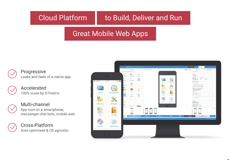 Mobsted Mobile App Maker - Cloud Platform to Build Mobile Web Apps